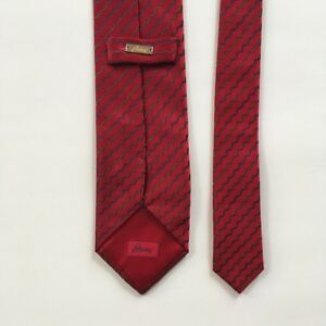 Brioni-tie-red-blue-100-silk-l-60-034-w-3-5-034-made-in-Italy-necktie-pa0667