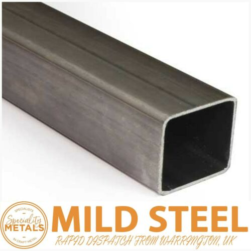 MILD STEEL BOX SECTION 20MM to 100MM 1M to 2M LENGTHS UK MADE /& RAPID DISPATCH