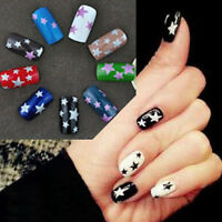 4Color Glitter Star Self Adhesive Colorful Nail Art Stickers QJ Transfer Decals