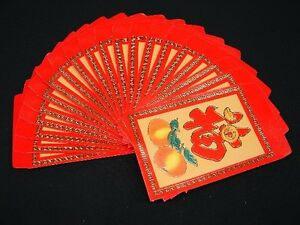 Bag of 40 Pcs of Colorful Fu Chinese Money Red Envelopes for New Year