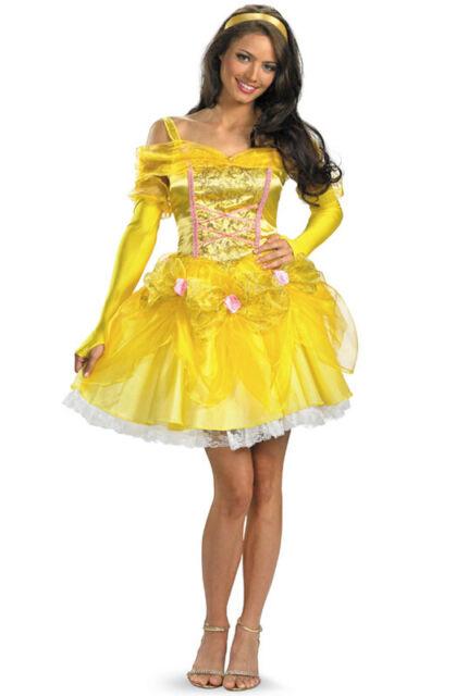 Brand New Disney Princess Sassy Belle Adult Halloween Costume