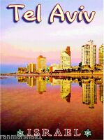 Tel Aviv Beach Israel Palestine Hebrew Jewish Art Travel Advertisement Poster