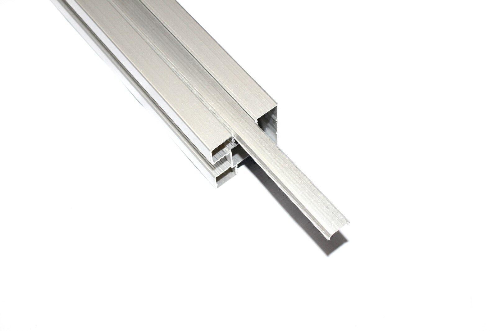 Alublende Pfostenblende Alupfosten Pfosten Blindleiste für WPC Systemzaun 190 cm