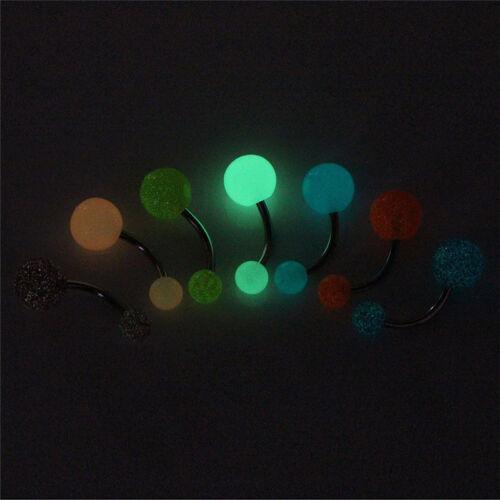 7PCS Set im Dunkeln leuchten Bauchnabelpiercing Ringe Piercing Schmuck  sp