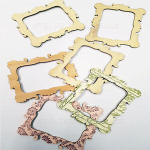 Image Is Loading Mini Craft Frames Wooden Cutouts Romantic Decorative Card