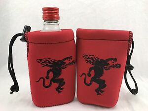 2-Fireball-Whisky-Red-Koozies-1-Pint-Bottle-Cooler-Coozie-NEW-amp-Free-Shipping