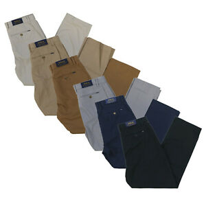 Polo-Ralph-Lauren-Chino-Pants-Mens-Classic-Fit-Stretch-Flat-Front-Casual-Slacks