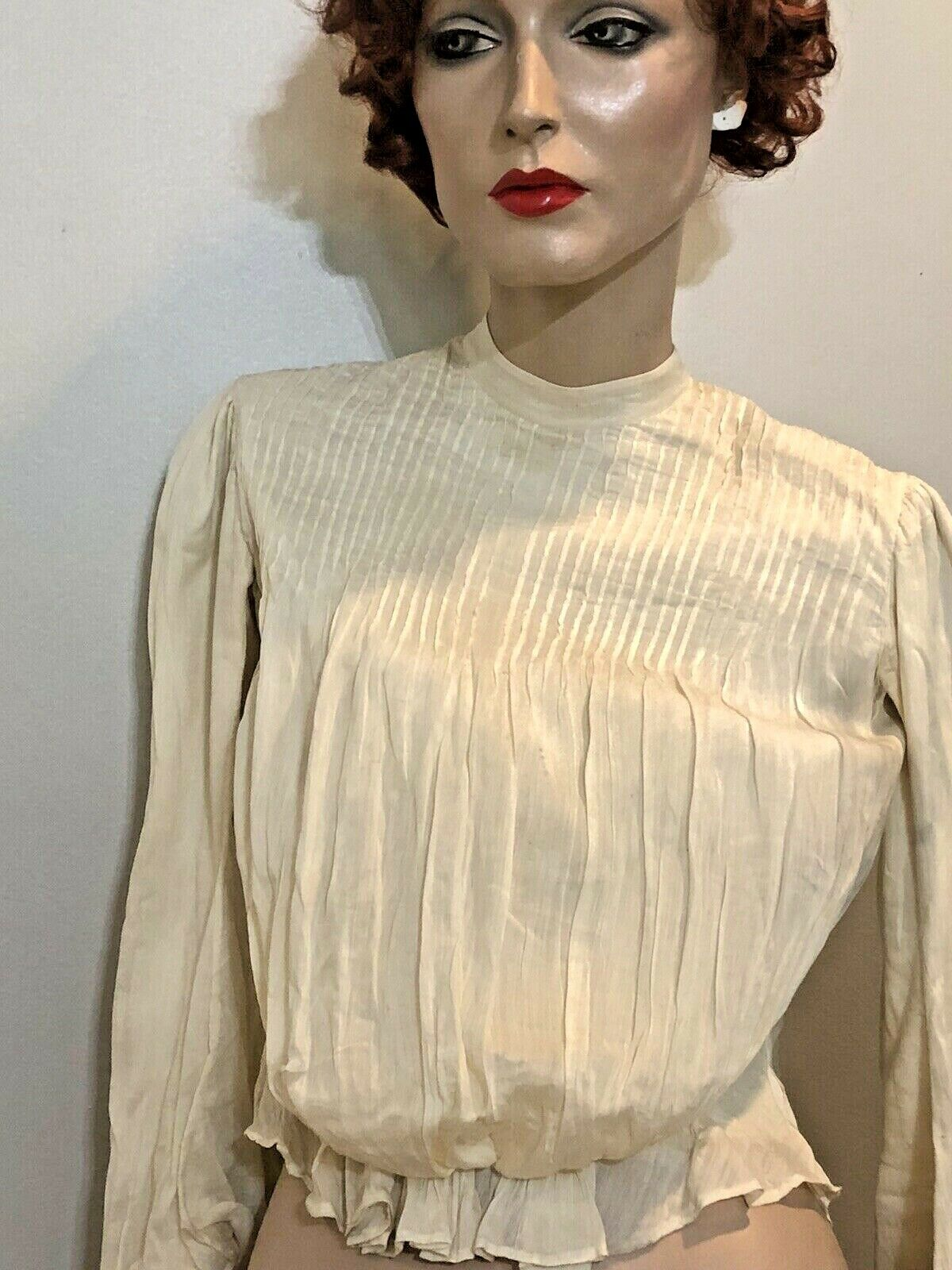 vintage Antique cotton blouse Edwardian Victorian… - image 1