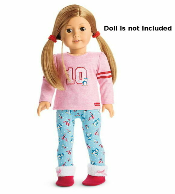 """NEW American Girl Holiday Penguin PJs Set for 18/"""" Gabriela Grace Luciana Dolls"""