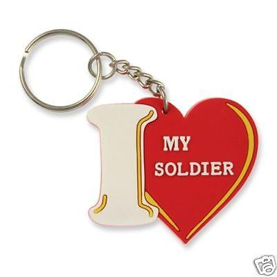 I LOVE MY SOLDIER ARMY KEYCHAIN