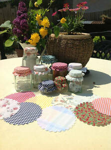 10-Jam-Jar-Covers-Mixed-Selection-With-Free-Bands-Labels-Gift-Tags-amp-Jute-String