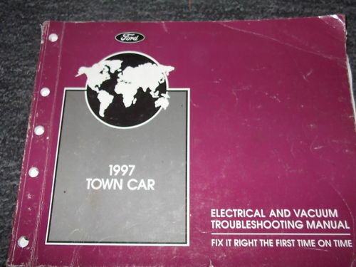 1997 Lincoln Town Car Wiring Electrical Diagrams Shop Service Repair Manual Ewd