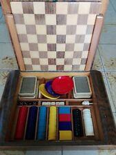 Cofanetto da gioco vintage bridge e poker con dama anni 60