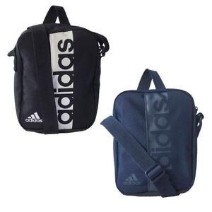 a1b4b8c1c8 Image is loading Adidas-Essentials-Unisex-Small-Man-Bag-Shoulder-Black-