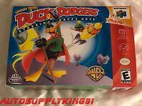 Duck Dodgers (nintendo 64, N64) Video Game Retro Custom Art Box + Tray Only