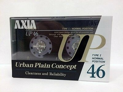 AXIA UP 46 BLANK RARE AUDIO CASSETTE TAPE NEW RARE 1989 YEAR JAPAN MADE
