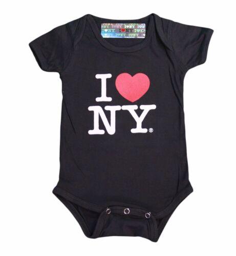I Love NY New York Baby Bodysuit Black Infant Screen Printed I Heart New York