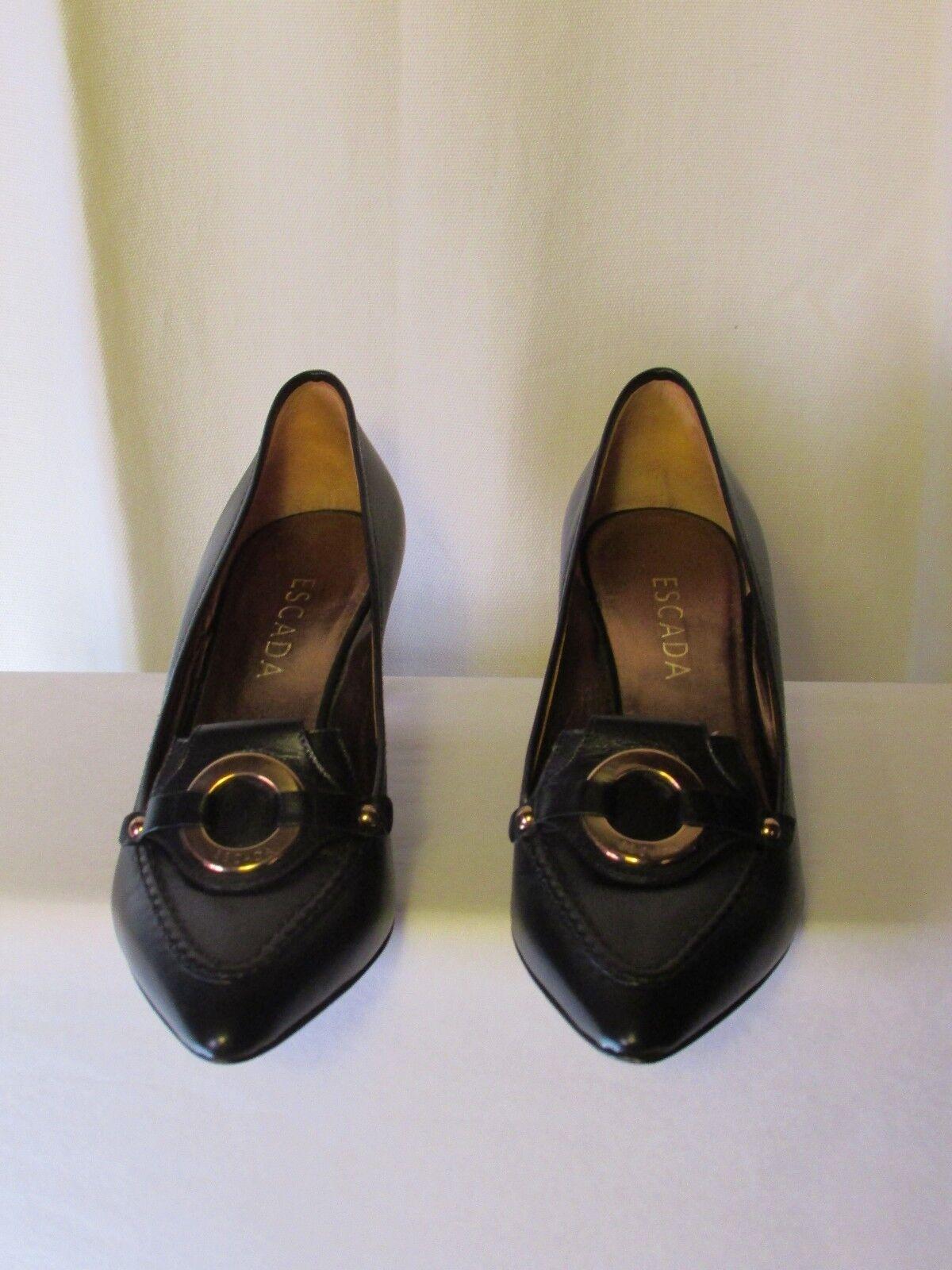 Scarpe escada pelle nera nera nera 38 | Prima classe nella sua classe  | Gentiluomo/Signora Scarpa  9aa875