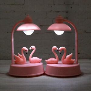 Dettagli su Flamingo NOTTE TABELLA LED Lampada Luce Decor Bambine Camera Da  Letto Regalo