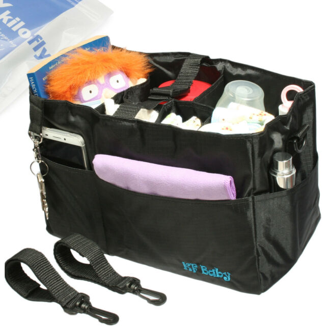 Kf Baby Diaper Bag Insert Stroller Organizer W Handle 2 Attachable Straps
