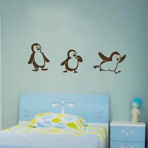 cute penguin art wall sticker nursery vinyl home decor diy pics photos penguin wall sticker for sockets