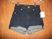 American Eagle Dark Wash Super Stretch Hi-waist Shorts Size 00 Retail $40.00