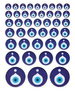 42x-Nazar-Boncuk-3D-Sticker-Aufkleber-Evil-Eye-Blau-Augen-Deko-Auto-Handy-NZ7