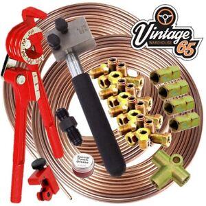 VOLKSWAGEN-GOLF-DIN-3-16-034-Cuivre-Nickel-CUNIFER-Brake-Pipe-Line-Restoration-Kit