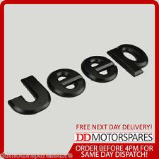 Black Jeep 3D Badge Sticker for Rear Front Bonnet Boot Emblem Wrangler