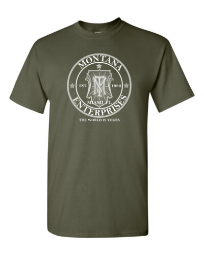 TONY MONTANA ENTERPRISES SCARFACE MOBSTER PACINO GANGSTER Men/'s T Shirt 1430