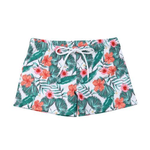 Family Matching Mother Daughter Men Kids Flower Bikini Swimwear Bathing Swimsuit
