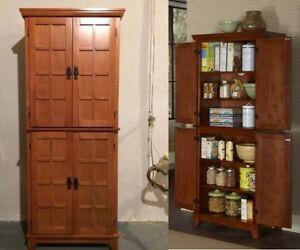 Bon Details About Tall Kitchen Pantry Solid Wood Storage Cabinet Cupboard  Organizer Bath Dark Oak