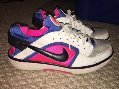 Gum Huarache Nike Run Rose Bubble Blanc Neon Aqua Bleu Air Taille Femmes 11 FYOHSqnwES