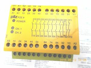 PILZ SAFETY RELAY PZE 9 24VDC 8N//O 1N//C