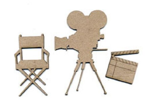 Choose from 6 designs SCRAP FX Chipboard /'ACTOR//PERFORMER/' Embellishments
