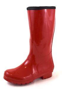Damen Stiefeletten 37 Regenstiefel Stiefel Gummistiefel Zu Details 41 Rot Gr35 36 EDHI29W