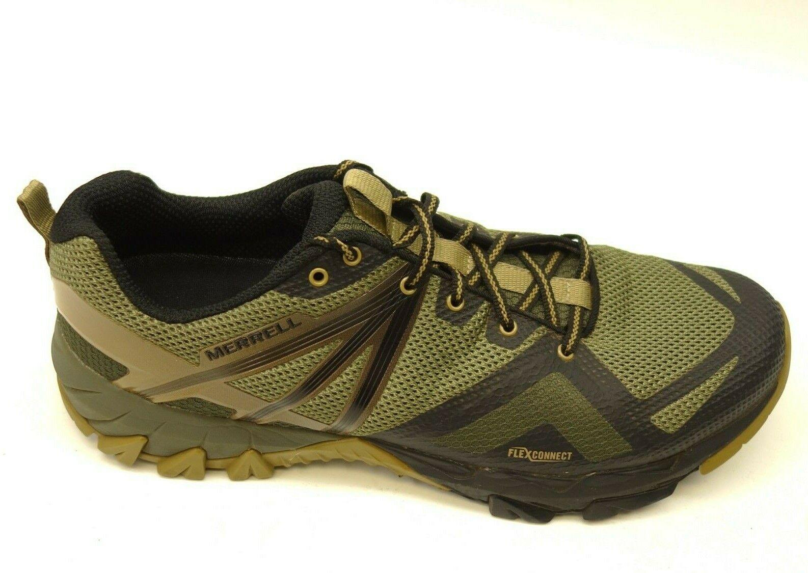Merrell MQM Flex US 12 Green Athletic Trail Hiking Mens shoes