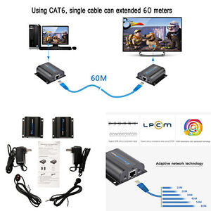 196ft lkv372a hdmi network extender over single cable with ir image is loading 196ft lkv372a hdmi network extender over single cable sciox Images