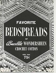 Favorite Bedspreads of Bucilla Wondersheen Vintage Crochet Instruction Patterns