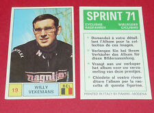 N°19 WILLY VEKEMANS BELGIË PANINI SPRINT 71 CYCLISME 1971 WIELRIJDER CICLISMO
