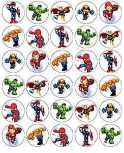 Superheroes Cake Toppers Uk