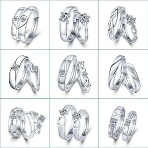 1-Set-Sell-Adjustable-Lovers-Zircon-Engagement-Rings-for-Women-Fashion-Silver