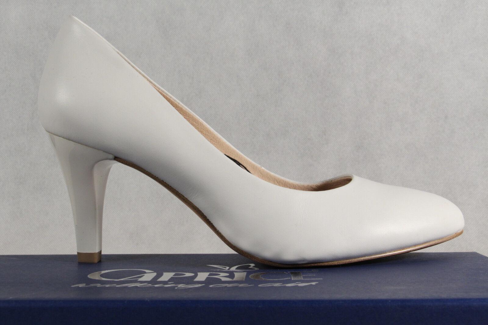 Caprice Décolleté Pantofole di ballerina ballerina ballerina bianco VERO CUOIO SOTTOPIEDE morbido ae1d03
