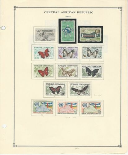 Central Africa Collection 19591970 on 12 Scott International Pages