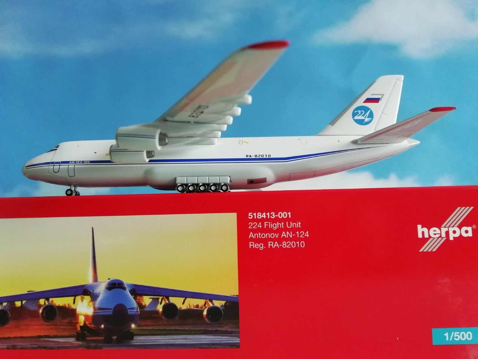 1 500 518413-001  224th Flight Unit Antonov AN-124 Herpa wings 1 500