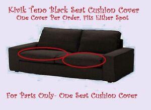 Ikea Kivik Sofa Single Seat Cushion Cover Teno Black Wool 3 Seat New