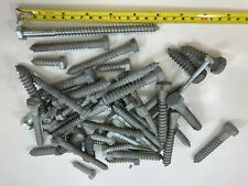 Lot Of 50 Assorted Hex Lag Screws Bolts All Purpose