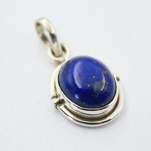 Lapis-Lazuli-Anhaenger-Silber-925-Kettenanhaenger-Sterlingsilber-oval-blau-ts-s