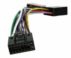 Details about KENWOOD Car Stereo Radio ISO Wiring Harness Connector on