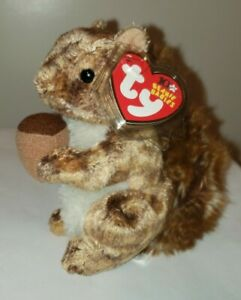 Ty Beanie Baby - NUTTY the Squirrel (5 Inch) MINT with MINT TAGS